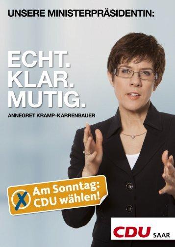 UNSERE MINISTERPRÄSIDENTIN - CDU Saar