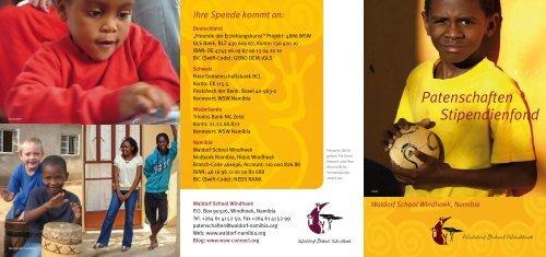 Stipendienfond Patenschaften - Waldorf School Windhoek