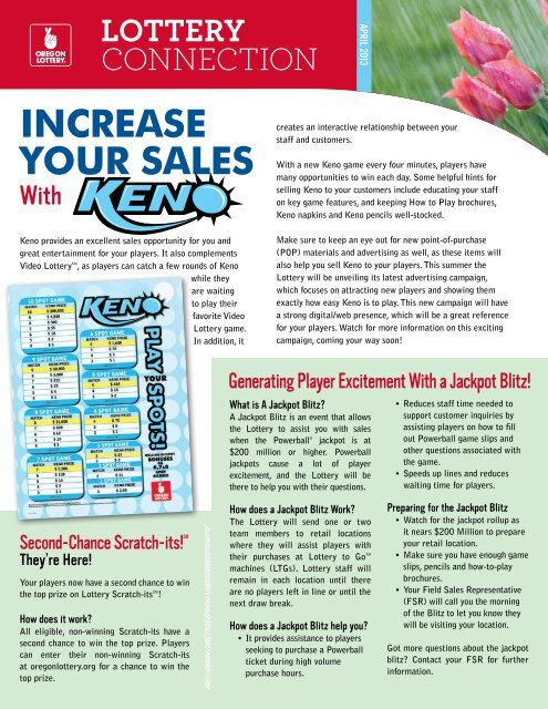 INCREASE YOUR SALES - Oregon Lottery