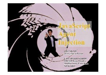 JavaScript Agents Injection - owasp