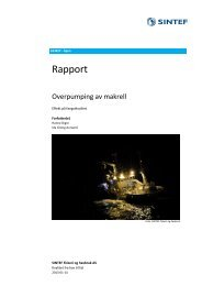 Rapport fra SINTEF om kvalitet på overpumpet ... - Fiskeridirektoratet