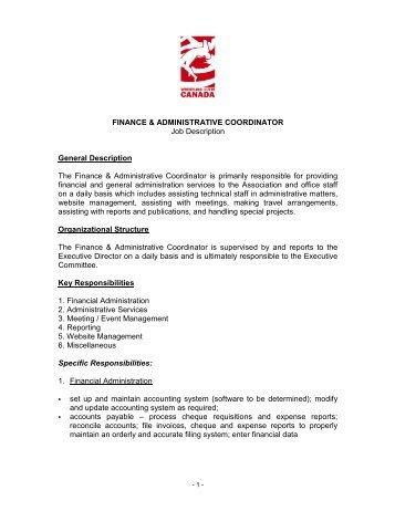 description sales coordinator wcib intranet