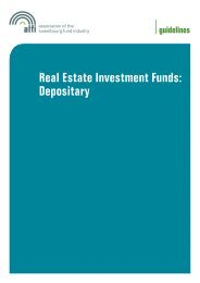 Real Estate Investment Funds: Depositary - Alfi