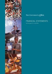 Annual Accounts 2005 (PDF , 394kb) - University of York