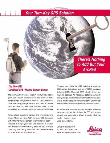 Your Turn-Key GPS Solution There's Nothing To Add But Your ArcPad