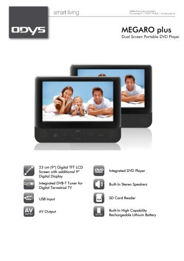 portable dvd player dvb t odys. Black Bedroom Furniture Sets. Home Design Ideas