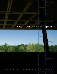 2007-2008 Annual Report - University of Northern Colorado