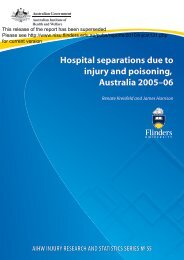 Previous full publication - Research Centre for Injury Studies ...