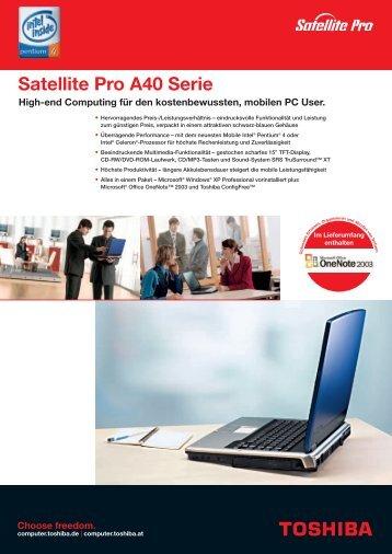 Satellite Pro A40 Serie - Toshiba