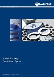 Produktkatalog Therapie mit System. - Bauerfeind