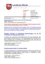 Aktuell: Wichtige Informationen für die ... - Landkreis Börde