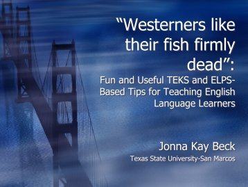 Westerners like their fish firmly dead - Mathematics for English ...