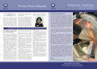 Spring 2005 - The Paterson Institute for Cancer Research - The ...
