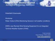 DWD's New Remote Wind Sensing Equipment for An ... - Wakenet