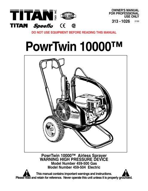 PowrTwin 10000™ - Paint Sprayers, HVLP Sprayers