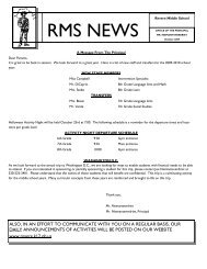 RMS NEWS - Revere Local Schools