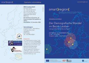 Der Demografische Wandel im Bezirk Leoben - Smart Region