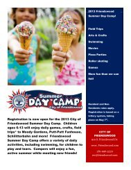 City of Friendswood Summer Day Camp