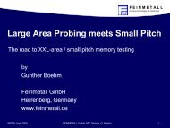 Large Area Probing meets Small Pitch