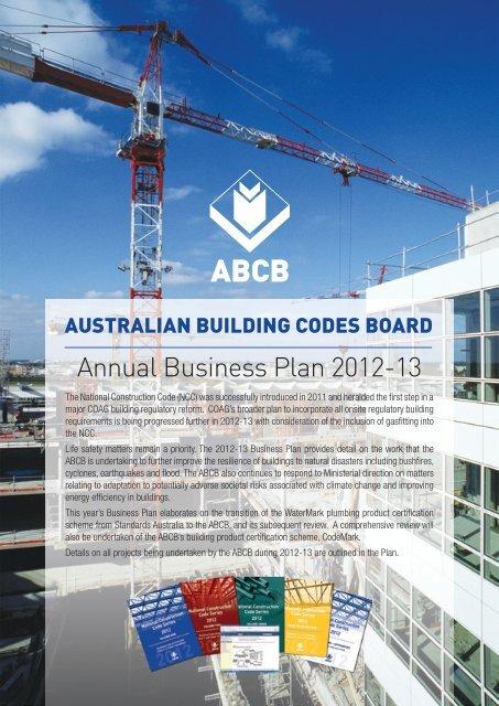 Annual Business Plan 2012-13 - Australian Building Codes Board