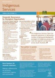 Indigenous Services - Rural Solutions SA - SA.Gov.au