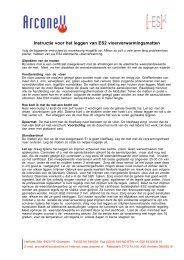Instructie voor het leggen van ES2 vloerverwarmingsmatten - Arconell