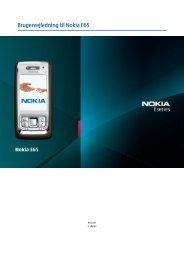 Brugervejledning til Nokia E65