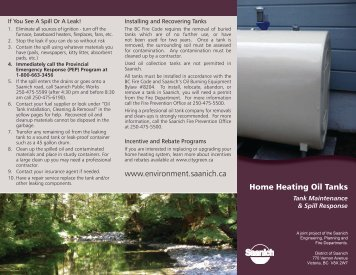 Home Heating Oil Tanks - District of Saanich
