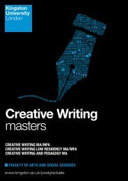 Creative Writing masters - Kingston University