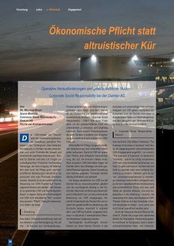 CSR bei der Daimler AG - Karlsruher Transfer