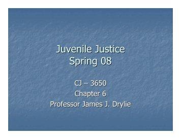 Juvenile Justice Spring 08