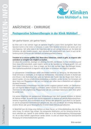 PATIENTEN-INFO - Kliniken Kreis Mühldorf am Inn
