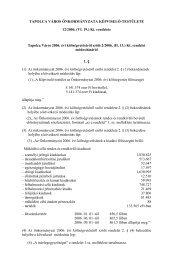 (II. 13.) Kt. rendelet módosításáról - Tapolca