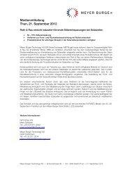 Medienmitteilung Thun, 21. September 2012 - Meyer Burger ...
