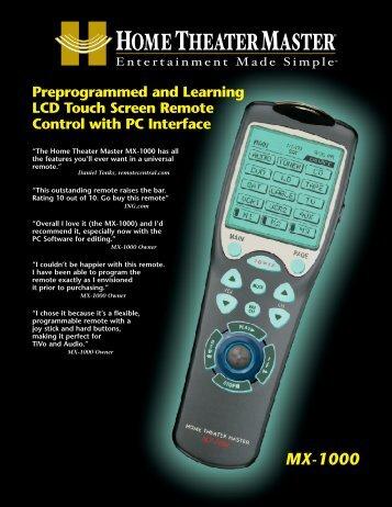 MX-1000 - Universal Remote Control
