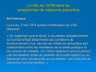 Le rôle de l'UCM dans les programmes de médecine préventive