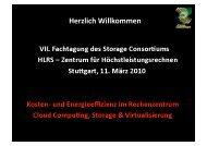 Herzlich Willkommen - Storage Consortium