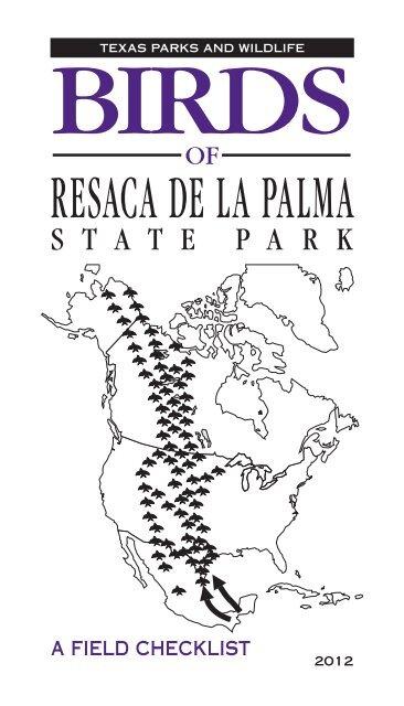 Birds of Resaca de la Palma State Park: A Field Checklist