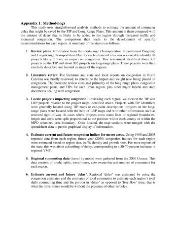Appendix 1: Methodology - John Locke Foundation