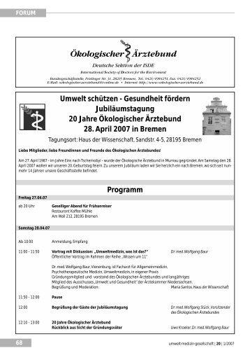 Umwelt schützen - Gesundheit fördern ... - UMG-Verlag