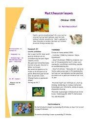 Nieuwsbrief oktober 2008 - St. Mattheusschool
