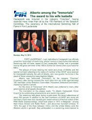 Alberto Castagnetti Inducted - International Swimming Hall of Fame