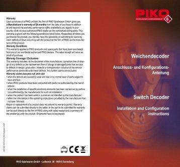 Weichendecoder Switch Decoder - Champex-Linden