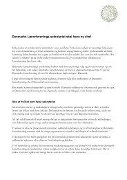 Læs stillingsopslaget her - Danmarks Lærerforening