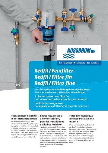 Redfil / Feinfilter Redfil / Filtre fin Redfil / Filtro fine - R. Nussbaum AG
