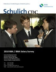 2010 BBA Graduate Survey - Schulich School of Business - York ...