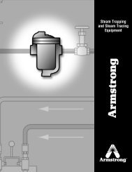 Steam Tracing Equipment - Armstrong International, Inc.