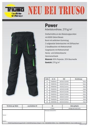 Arbeitsbundhose, 270 g/m2 - TRIUSO Qualitätswerkzeuge