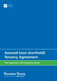 Assured (non shorthold) Tenancy Agreement - Hounslow Homes