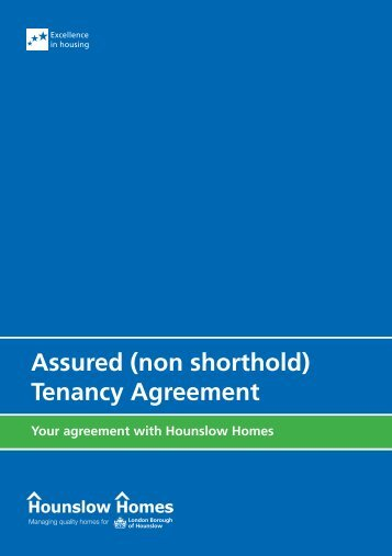 Assured (non shorthold) Tenancy Agreement - Hounslow Homes